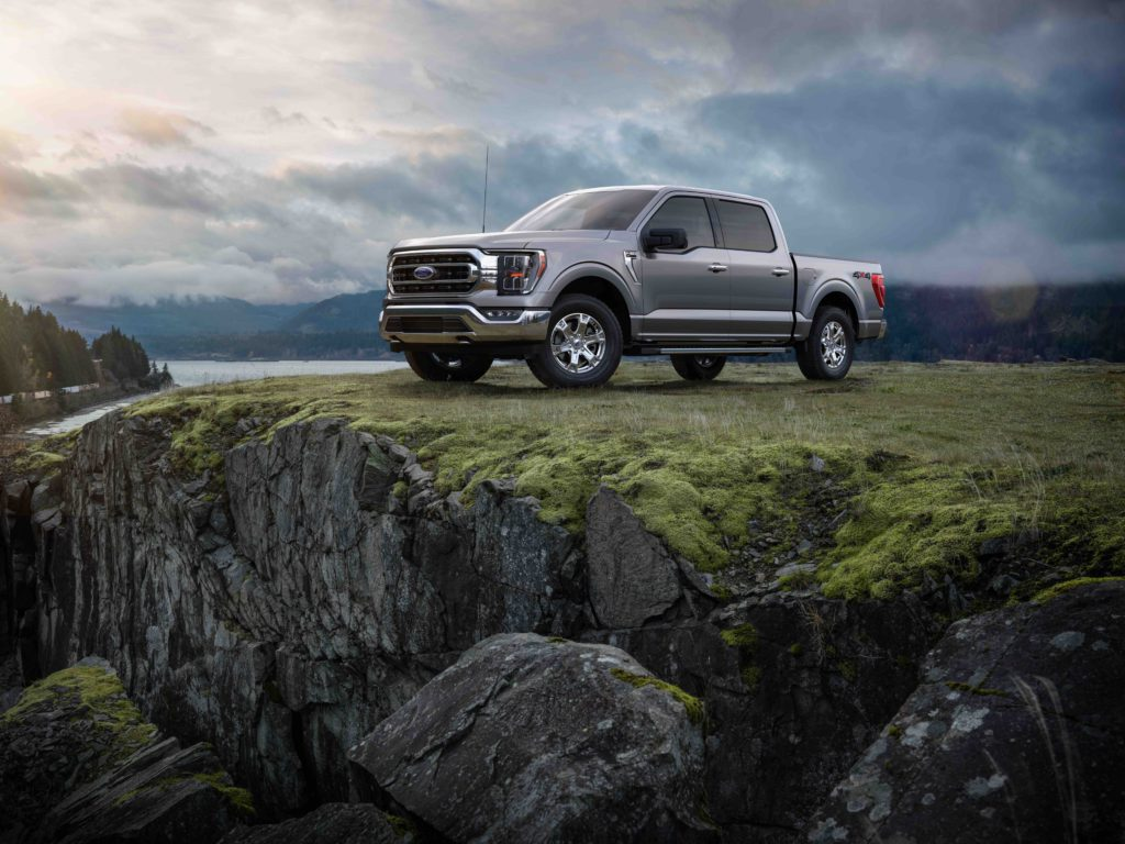 2021 Ford F-150 on cliff