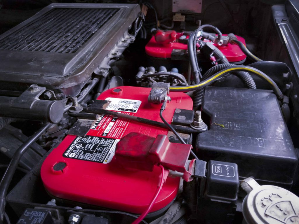 Optima REDTOP batteries installed Pajero