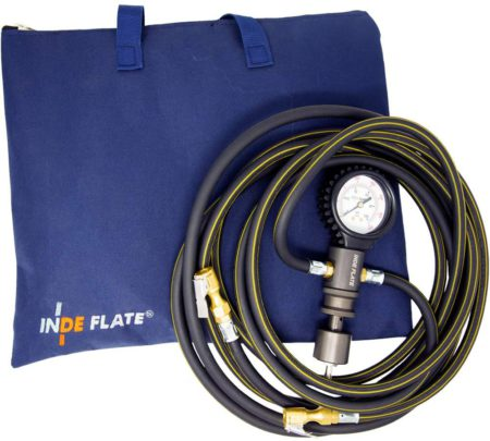 Indeflate tire inflation and deflation tool