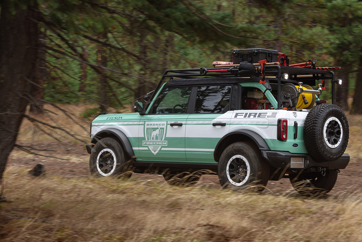 Bronco + Filson Wildland Fire Rig Concept: National Forest Foundation Responsible Recreation Initiatives