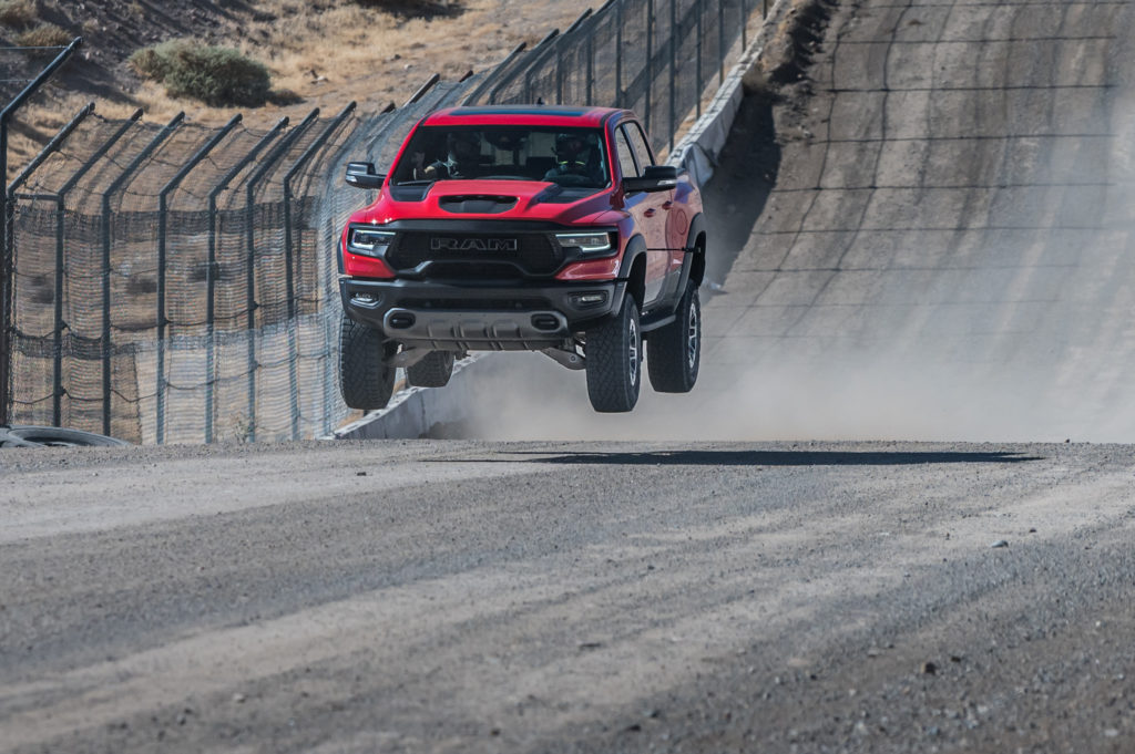 2021 RAM 1500 TRX jump