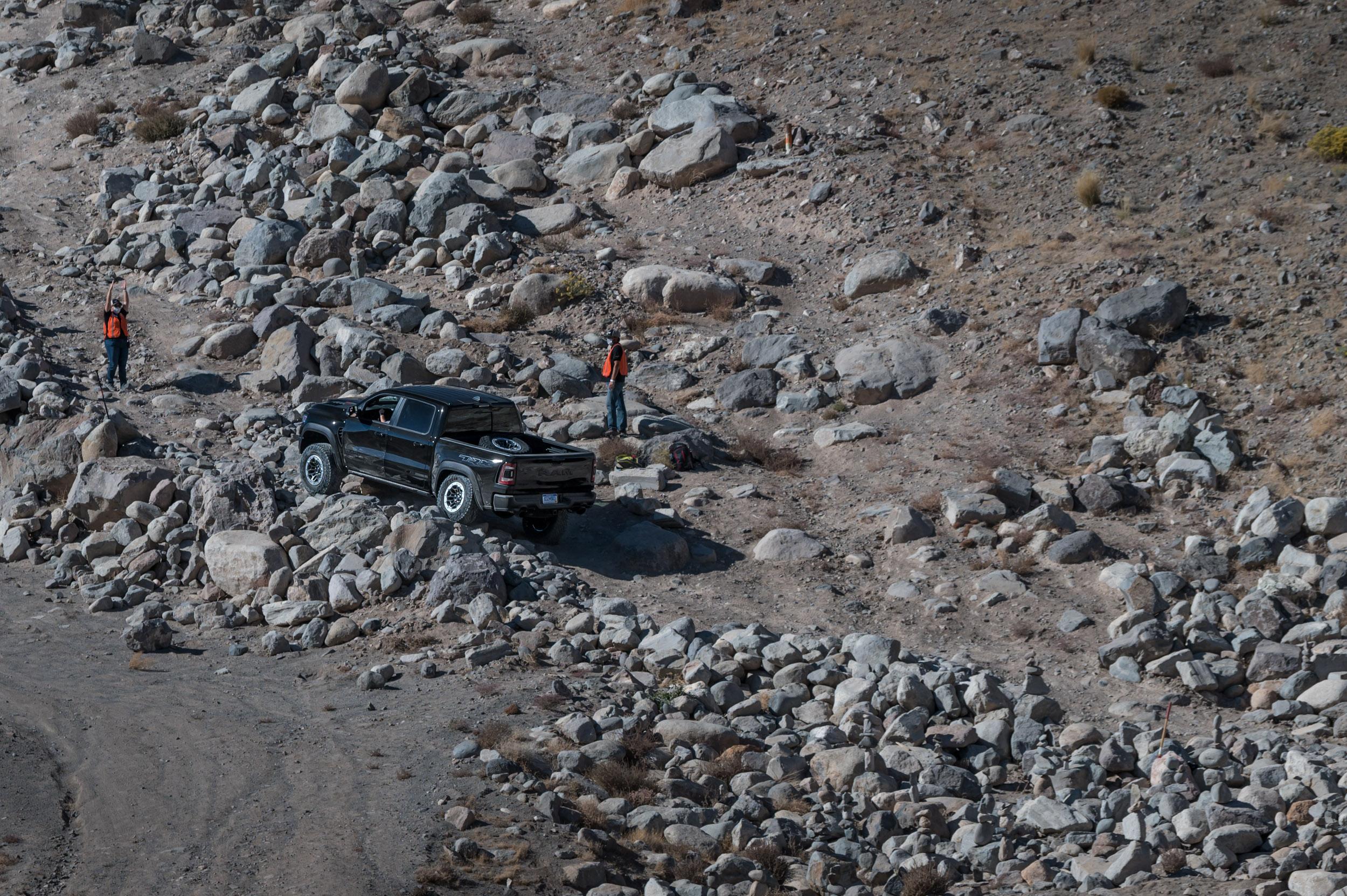 2021 RAM 1500 TRX rock crawl