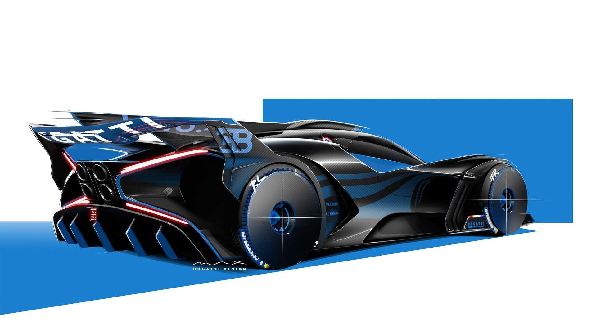 Bugatti Bolide design sketch