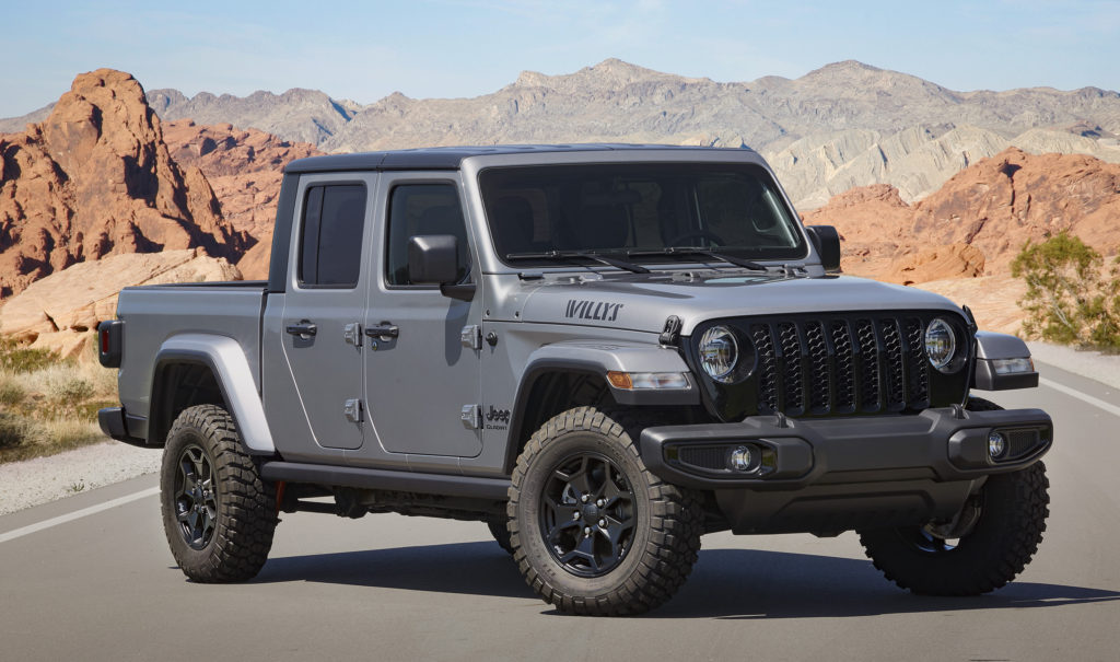 2021 Jeep Gladiator Willys front 3/4