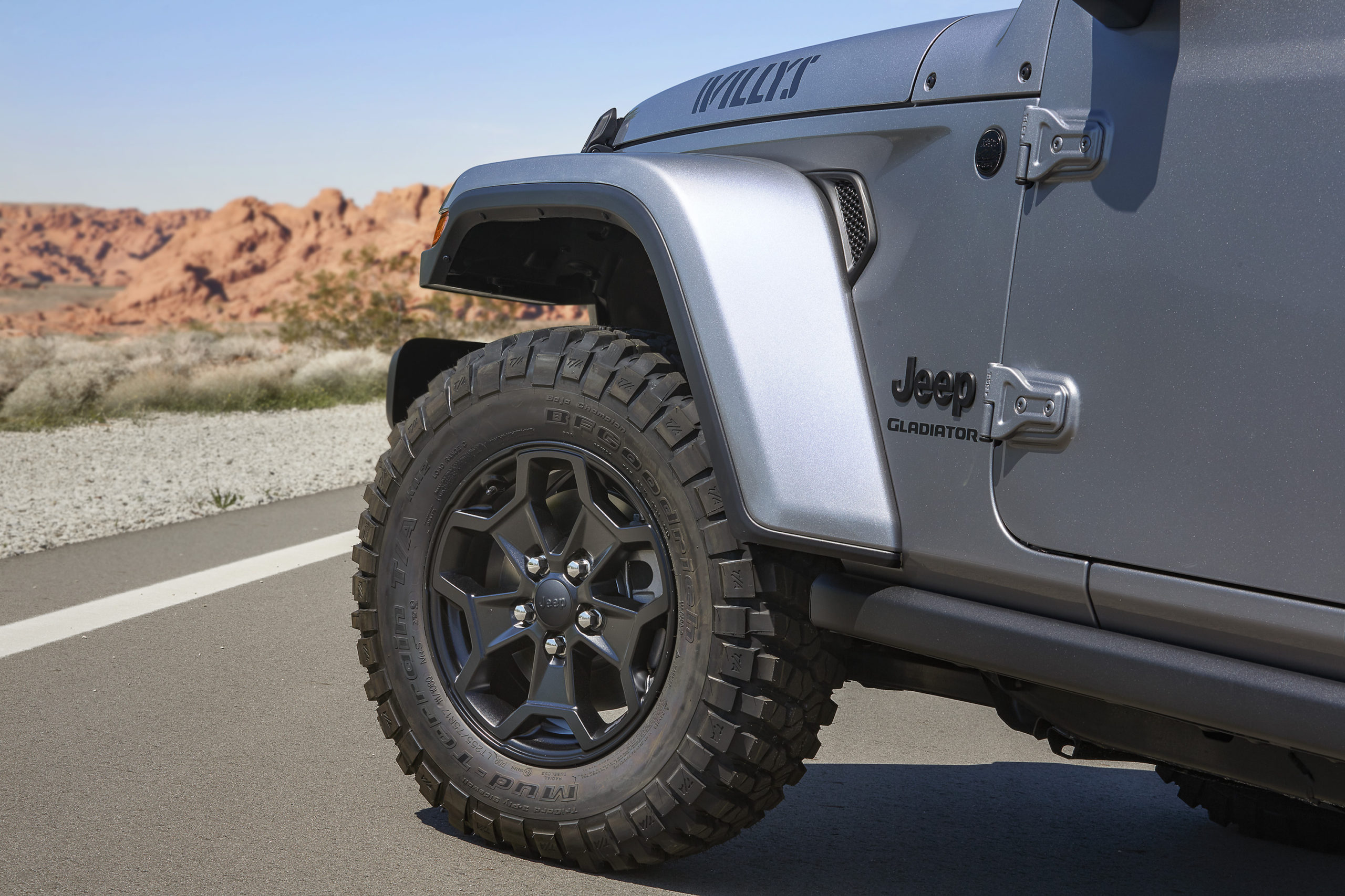 2021 Jeep Gladiator Willys fender and wheel