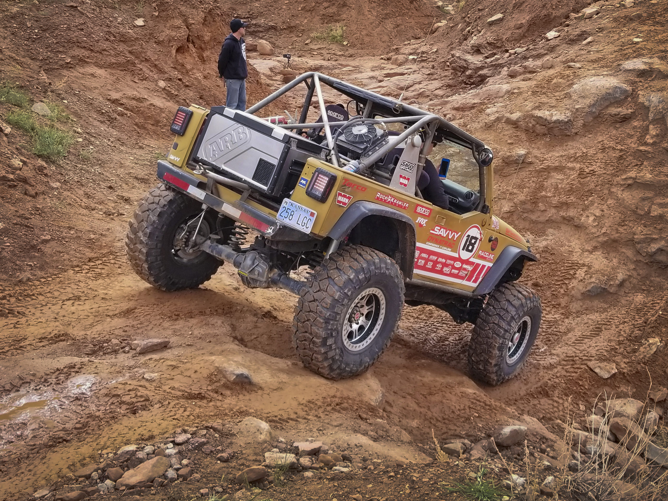 Jessi Combs' Goldie Rocks Ultra4 rig in Moab UT