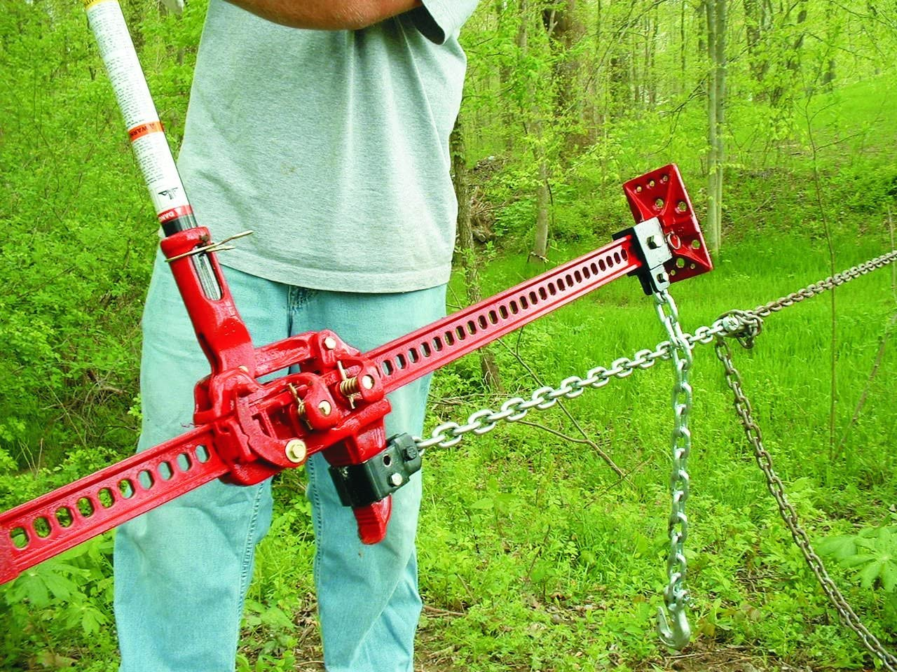 Hi-Lift Jack ORK Off-Road Kit in use