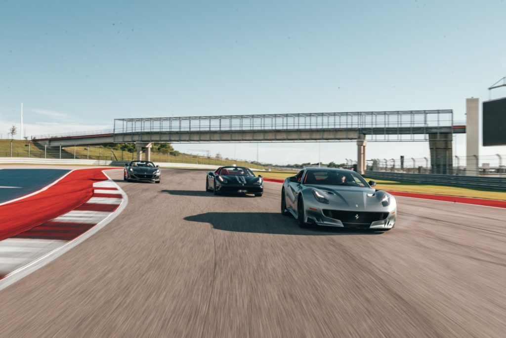 Ferraris at the track