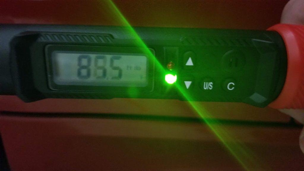 digital torque wrench green light