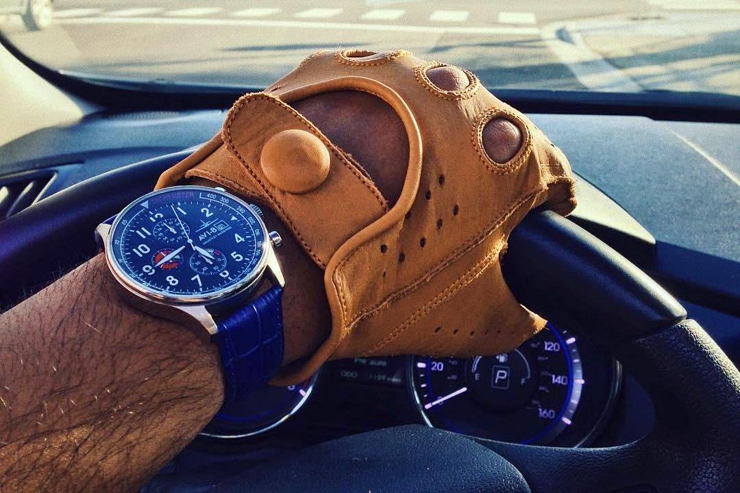Riparo Men's Leather Driving Gloves