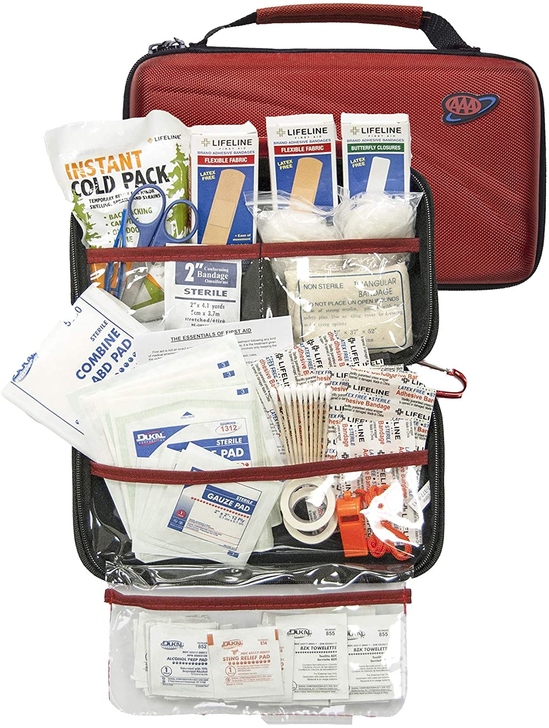 AAA 121 Piece Road Trip First Aid Kit