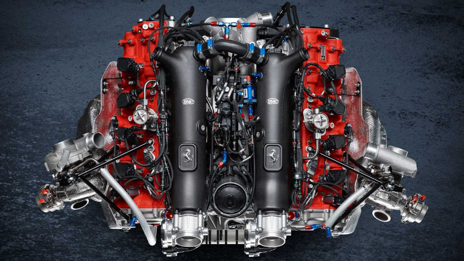 Ferrari 488 GT Modificata engine