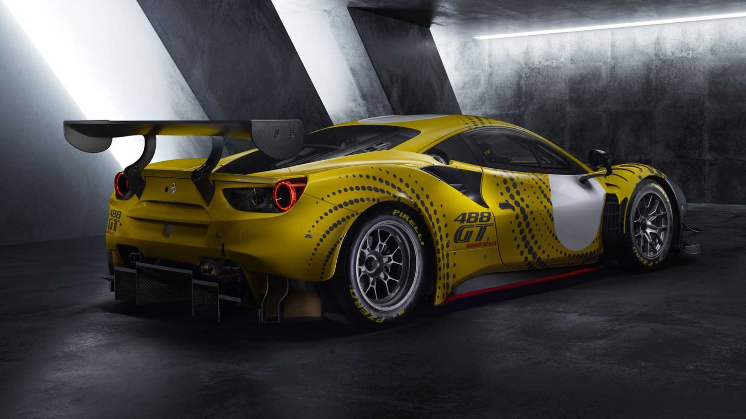 Ferrari 488 GT Modificata rear three quarter view