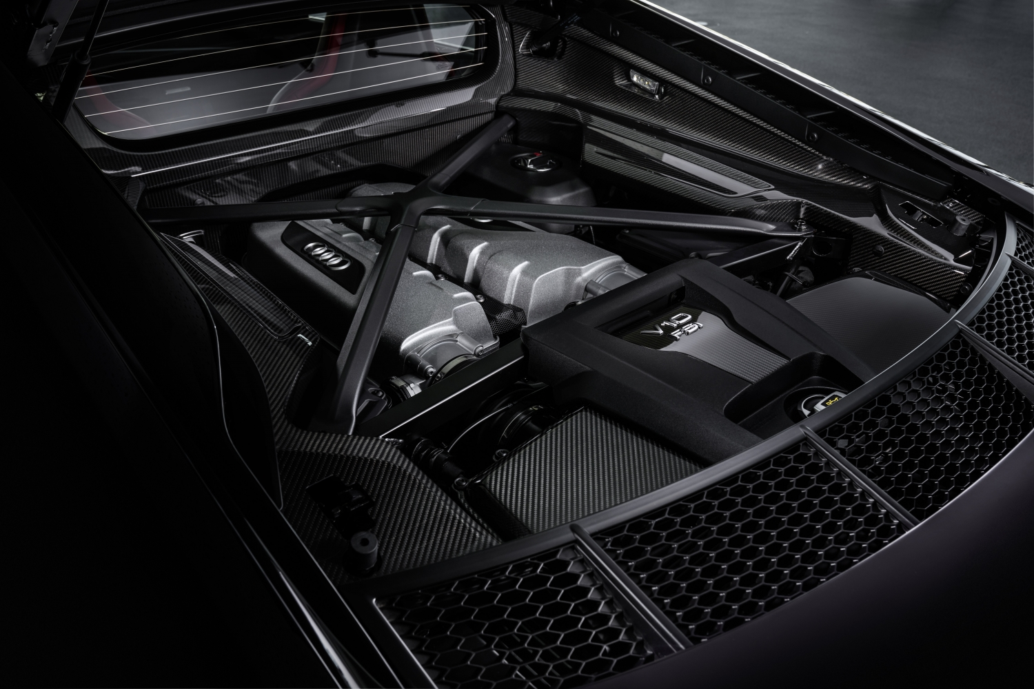 2021 Audi R8 Panther Edition engine bay