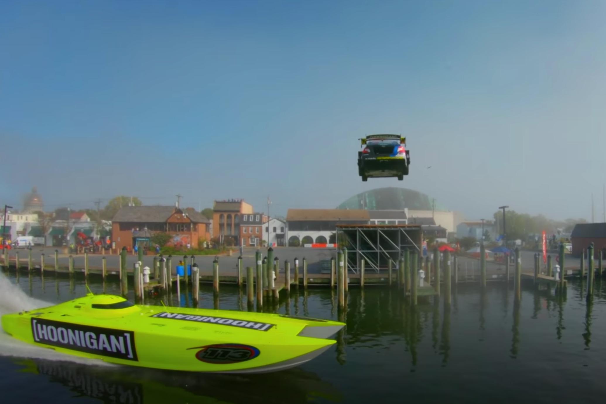 Gymkana Pastrana Takeover boat jump