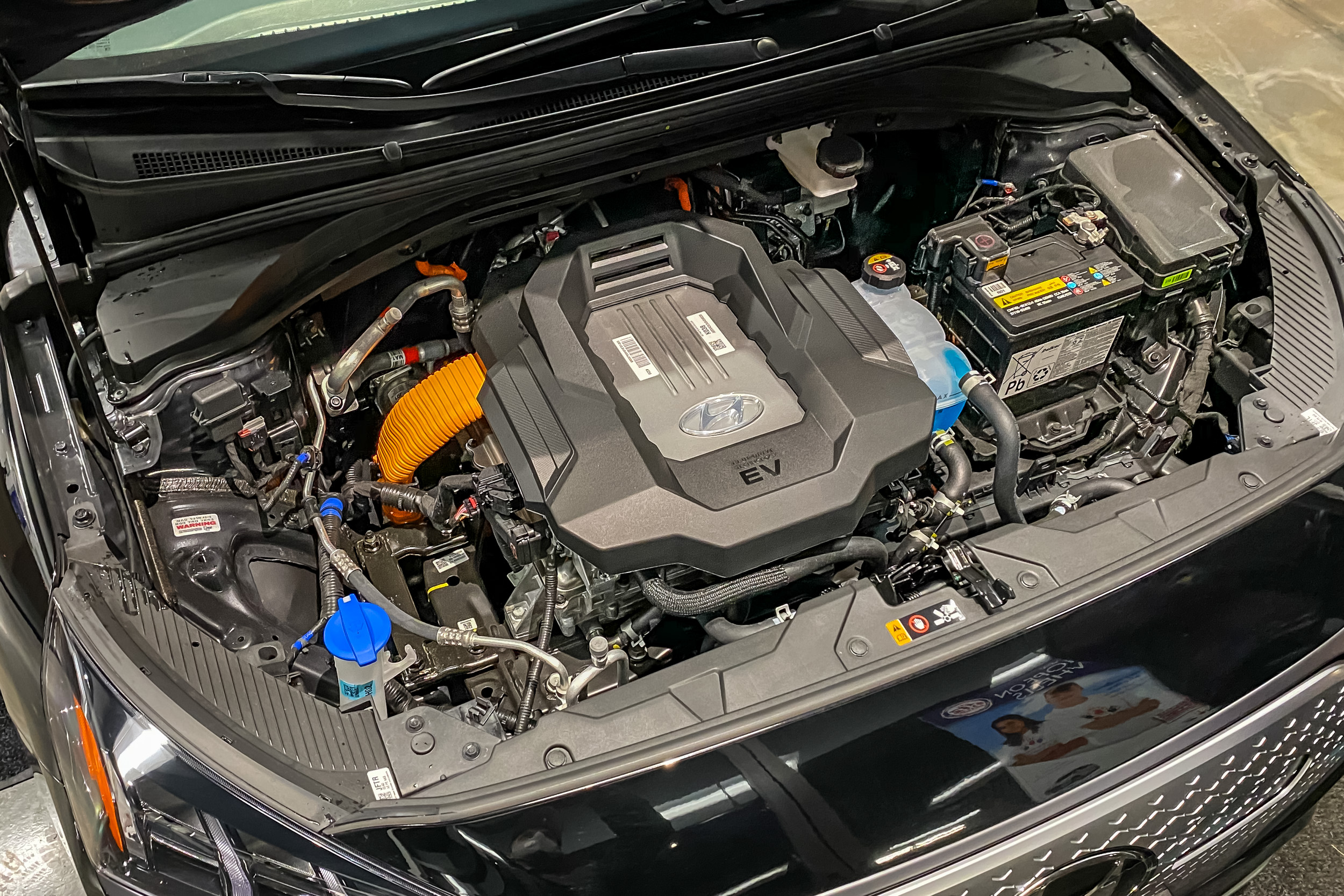 2020 Hyundai Ioniq Electric under hood