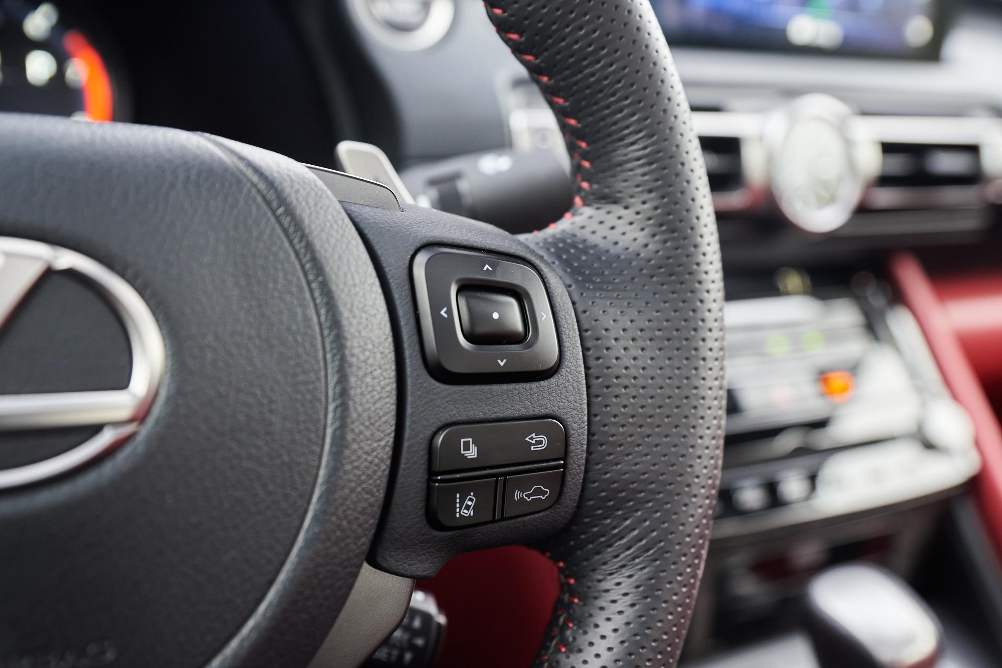 2021 Lexus IS 350 F Sport steering wheel controls