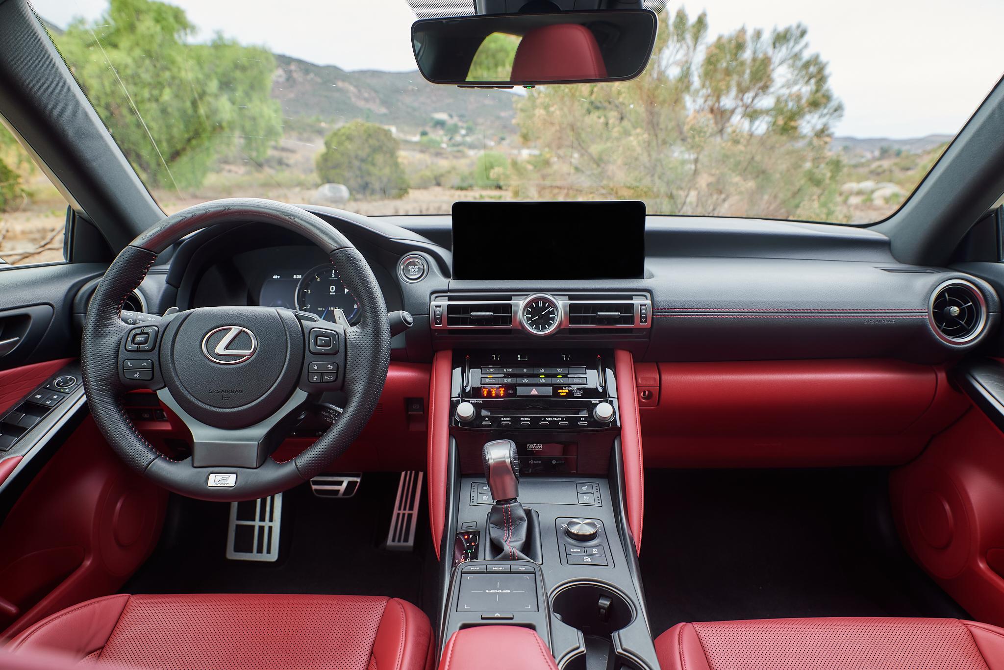 2021 Lexus IS 350 F Sport interior