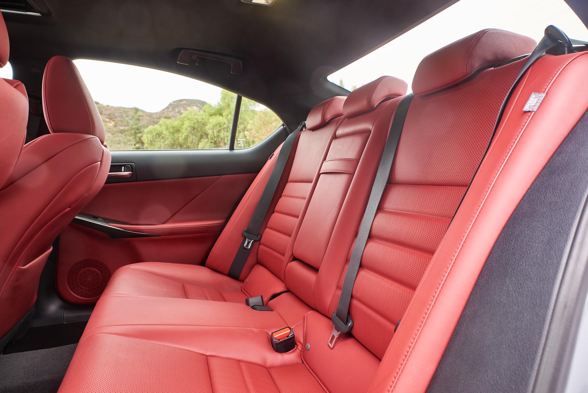 2021 Lexus IS 350 F Sport rear seats