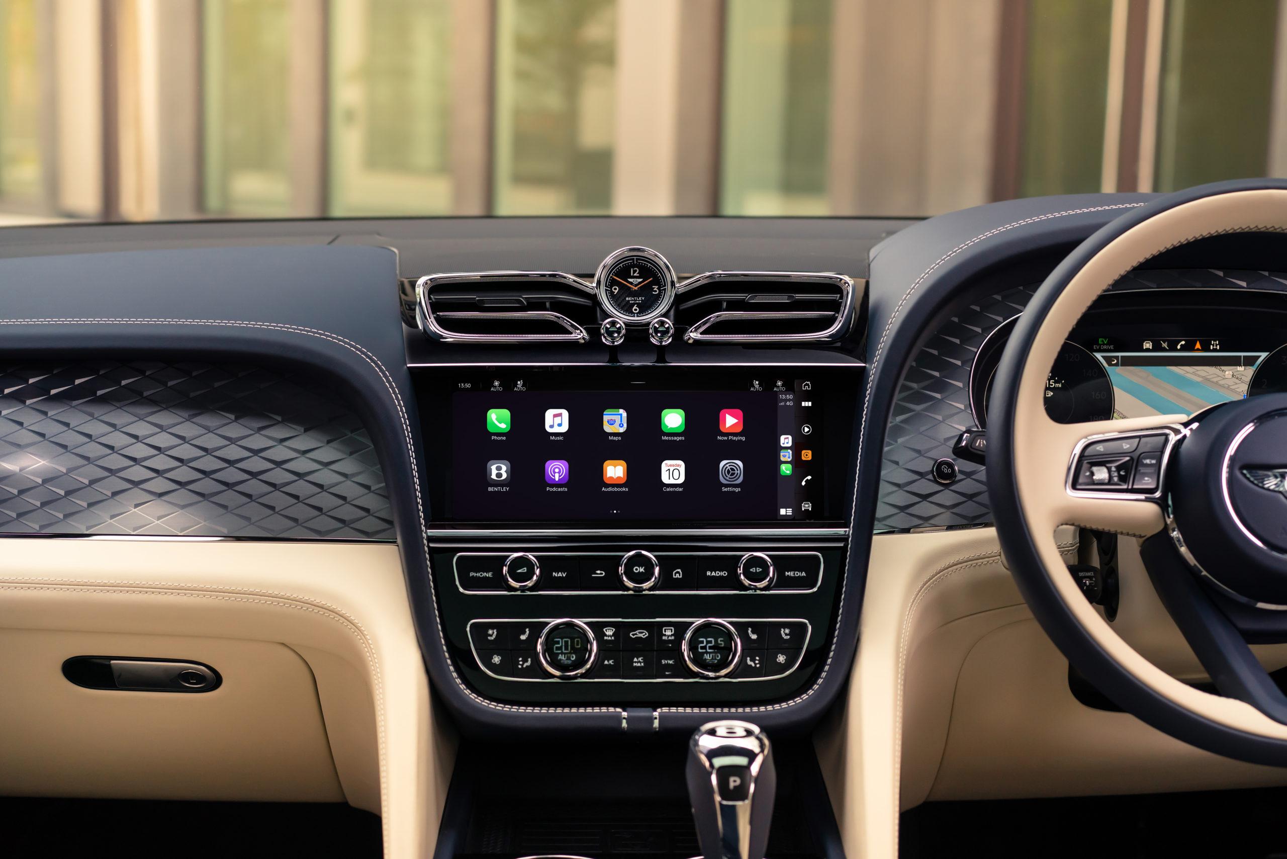 2021 Bentley Bentayga Hybrid infotainment screen