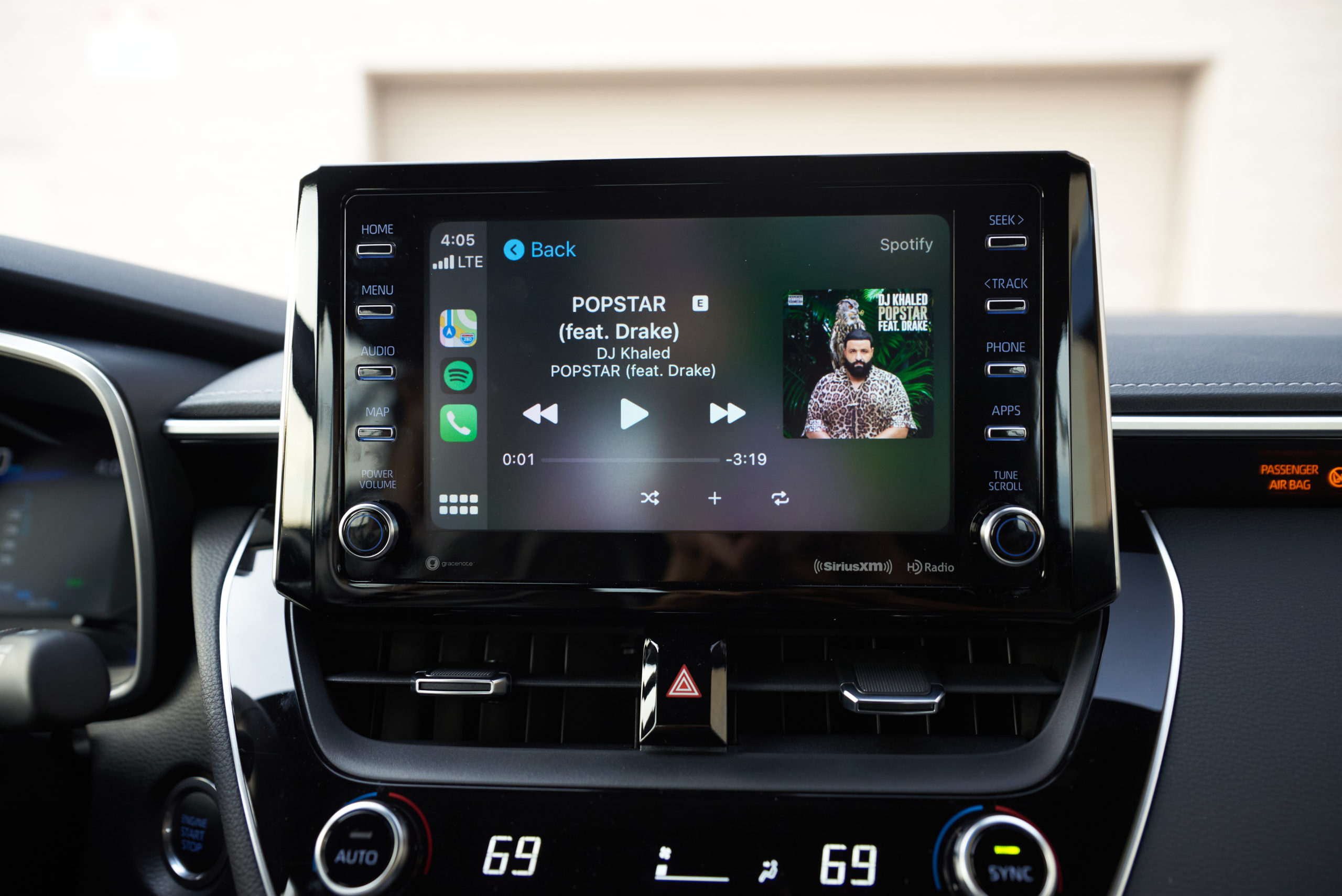 2021 Toyota Corolla XSE infotainment screen