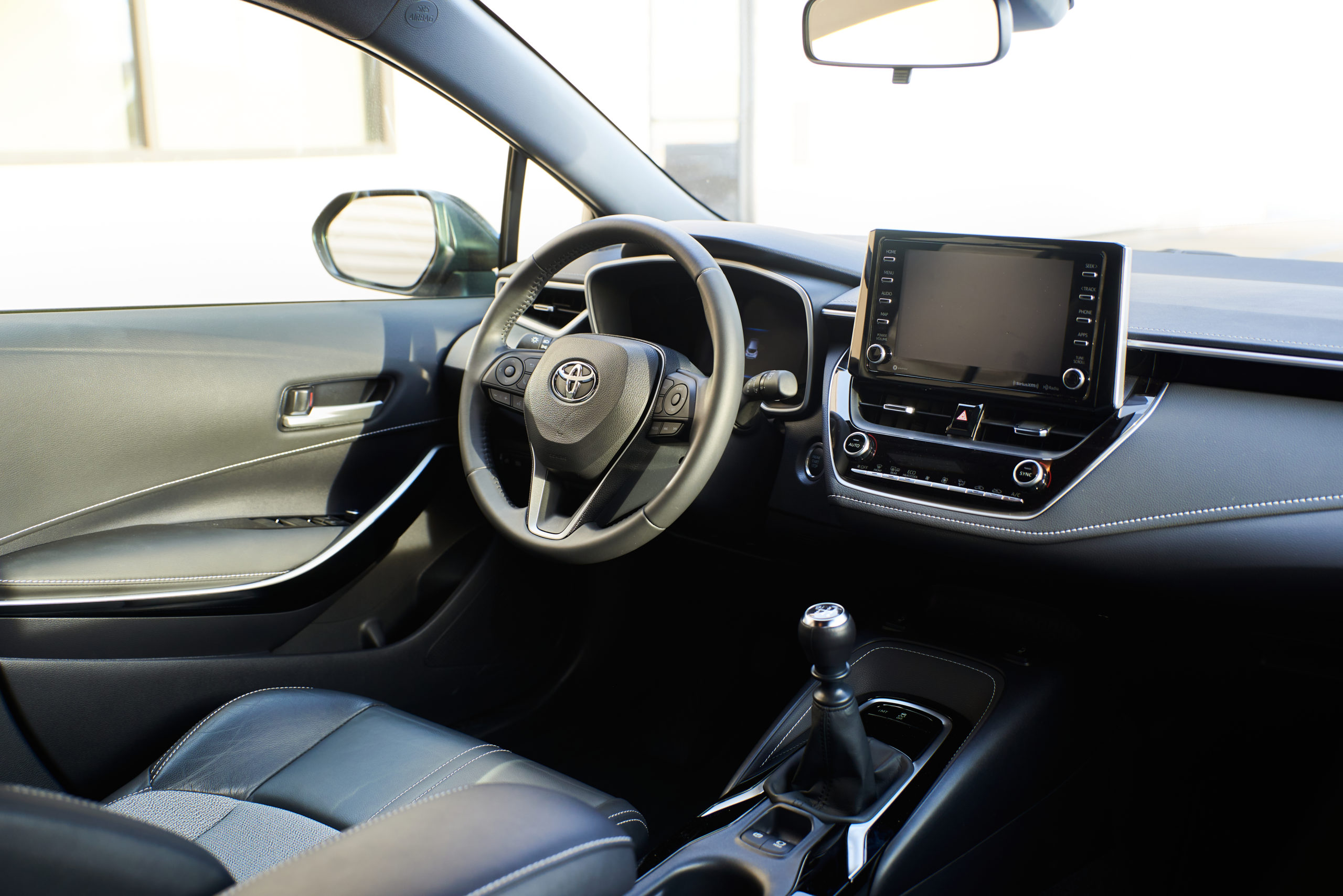 Interior of the 2021 Toyota Corolla XSE
