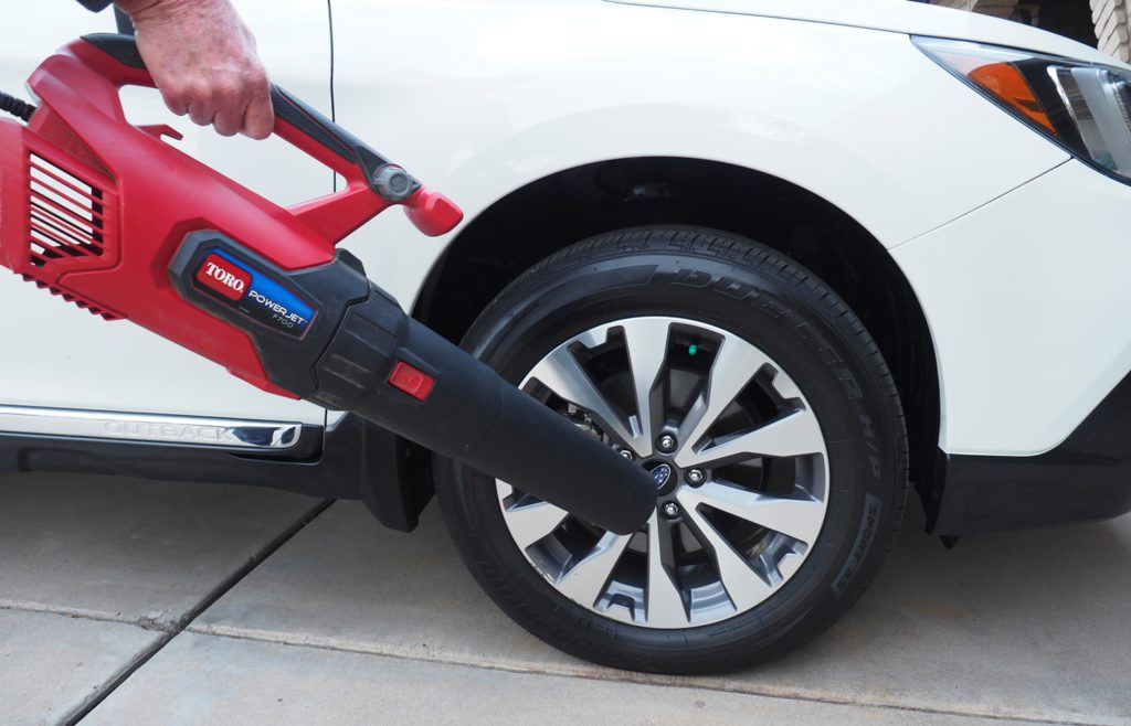 leaf blower for car drying