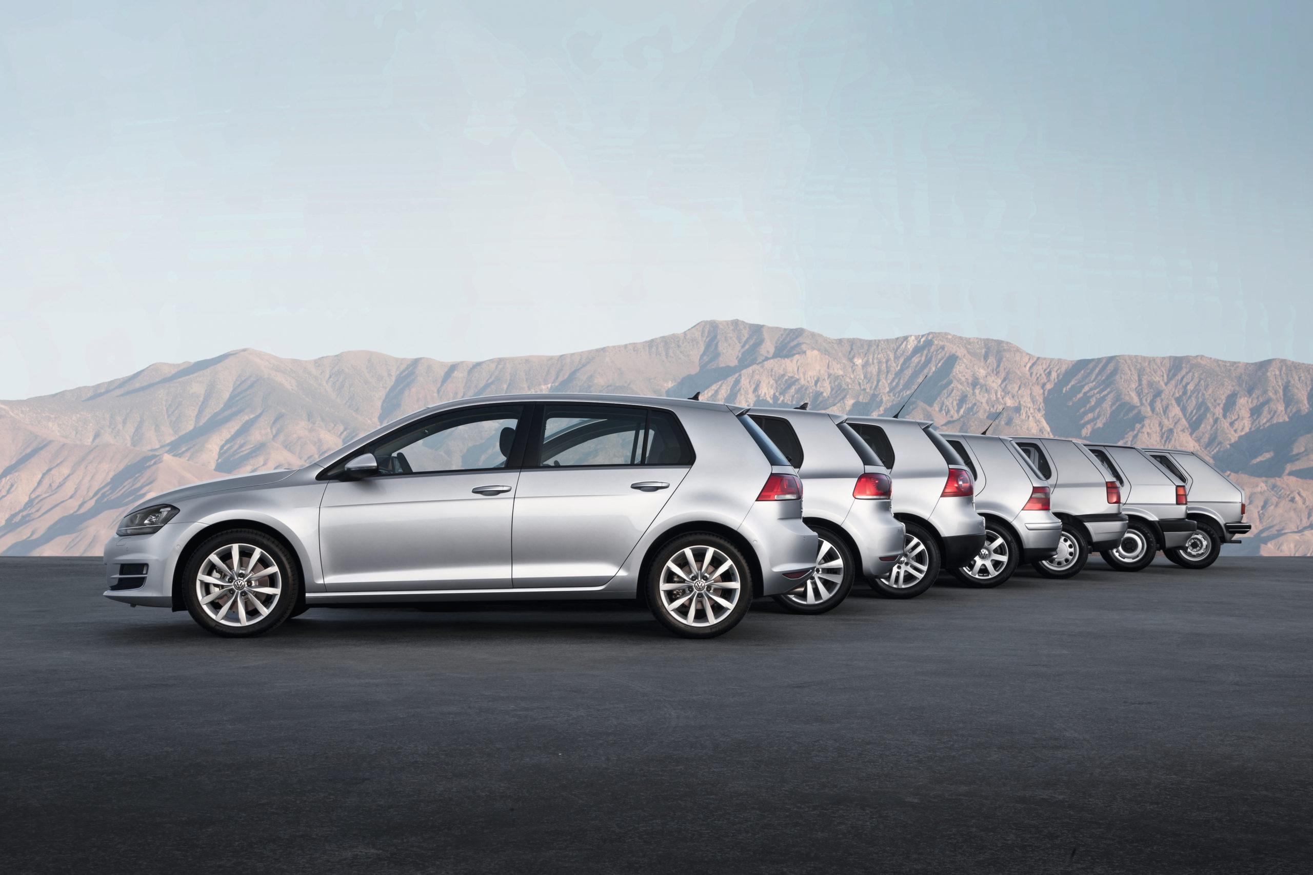 All VW Golf generations