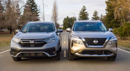 front view 2021 Honda CR-V, 2021 Nissan Rogue