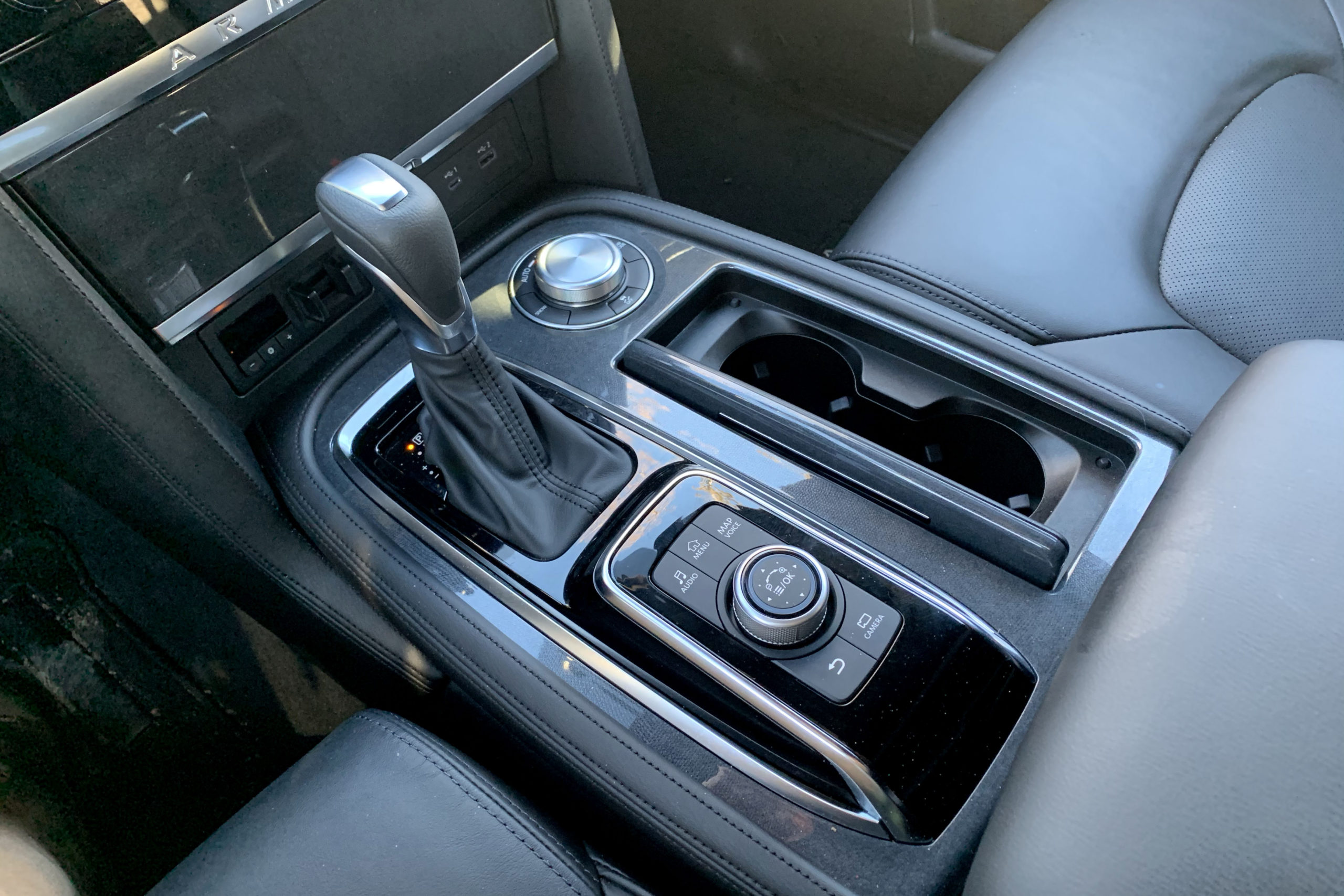 2021 Nissan Armada Midnight Edition shifter