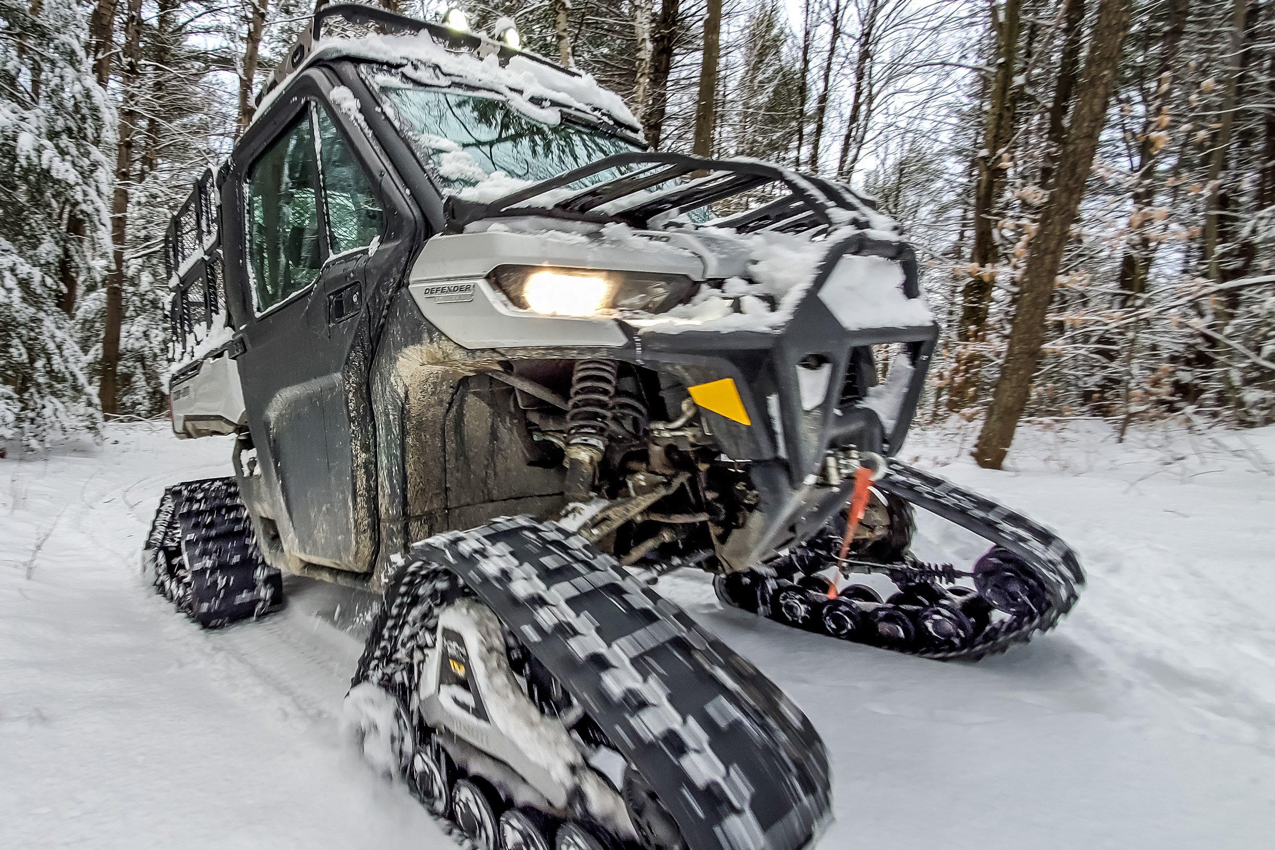 2021 Can-Am Defender Limited on tracks
