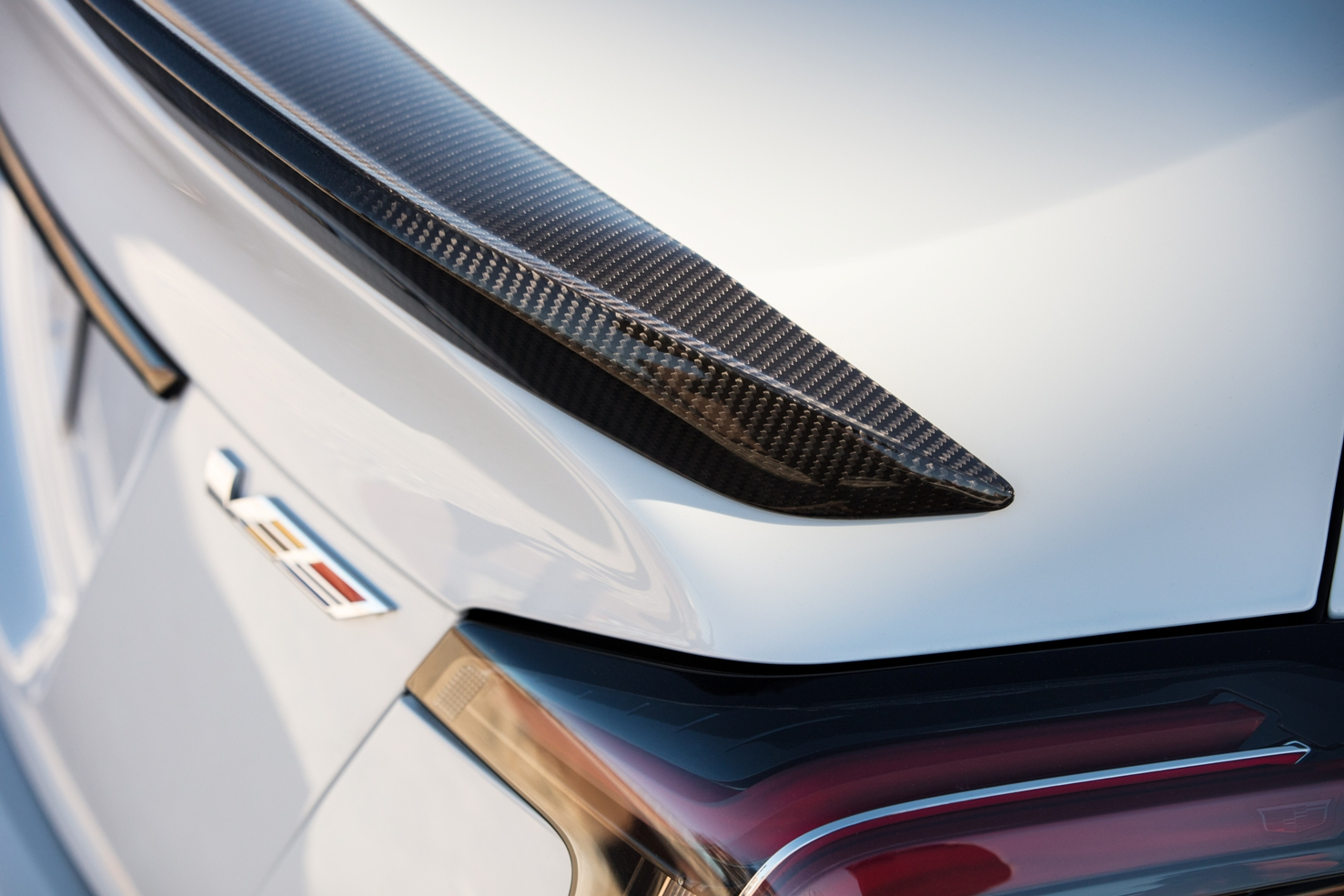 2022 Cadillac Blackwing rear spoiler