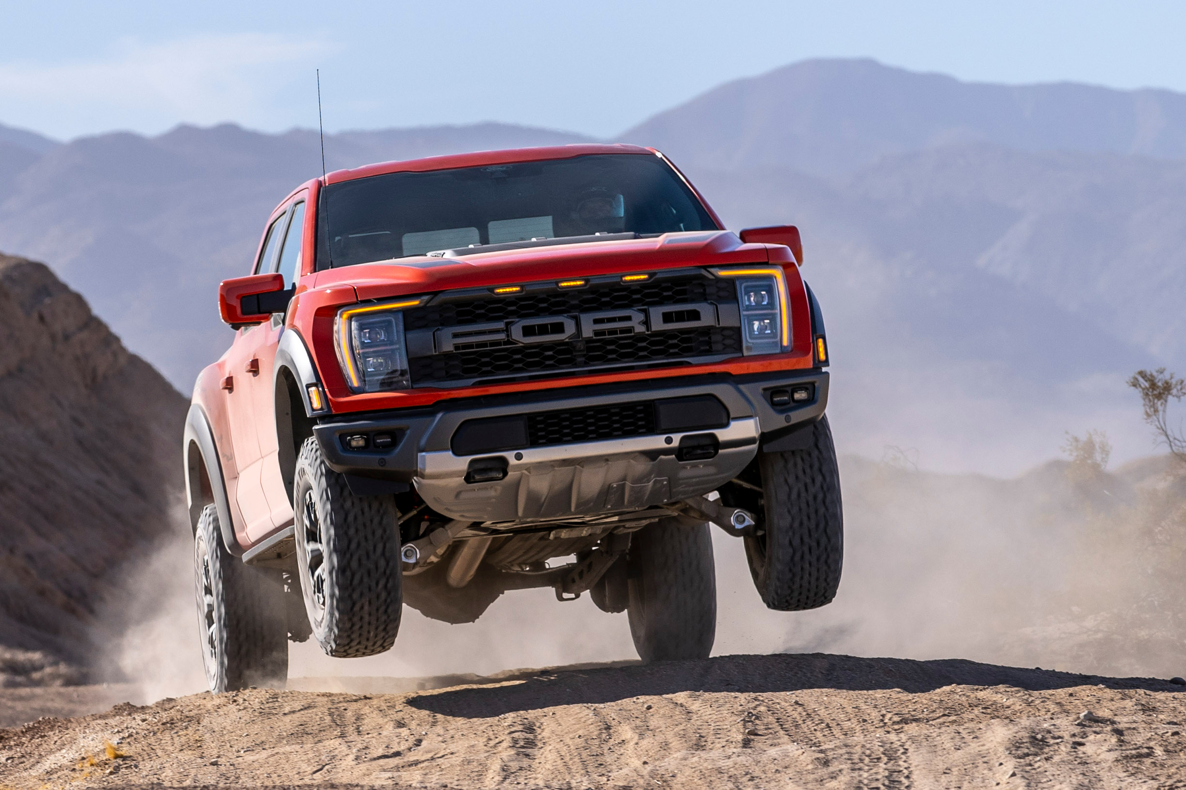 2021 Ford Raptor jumping