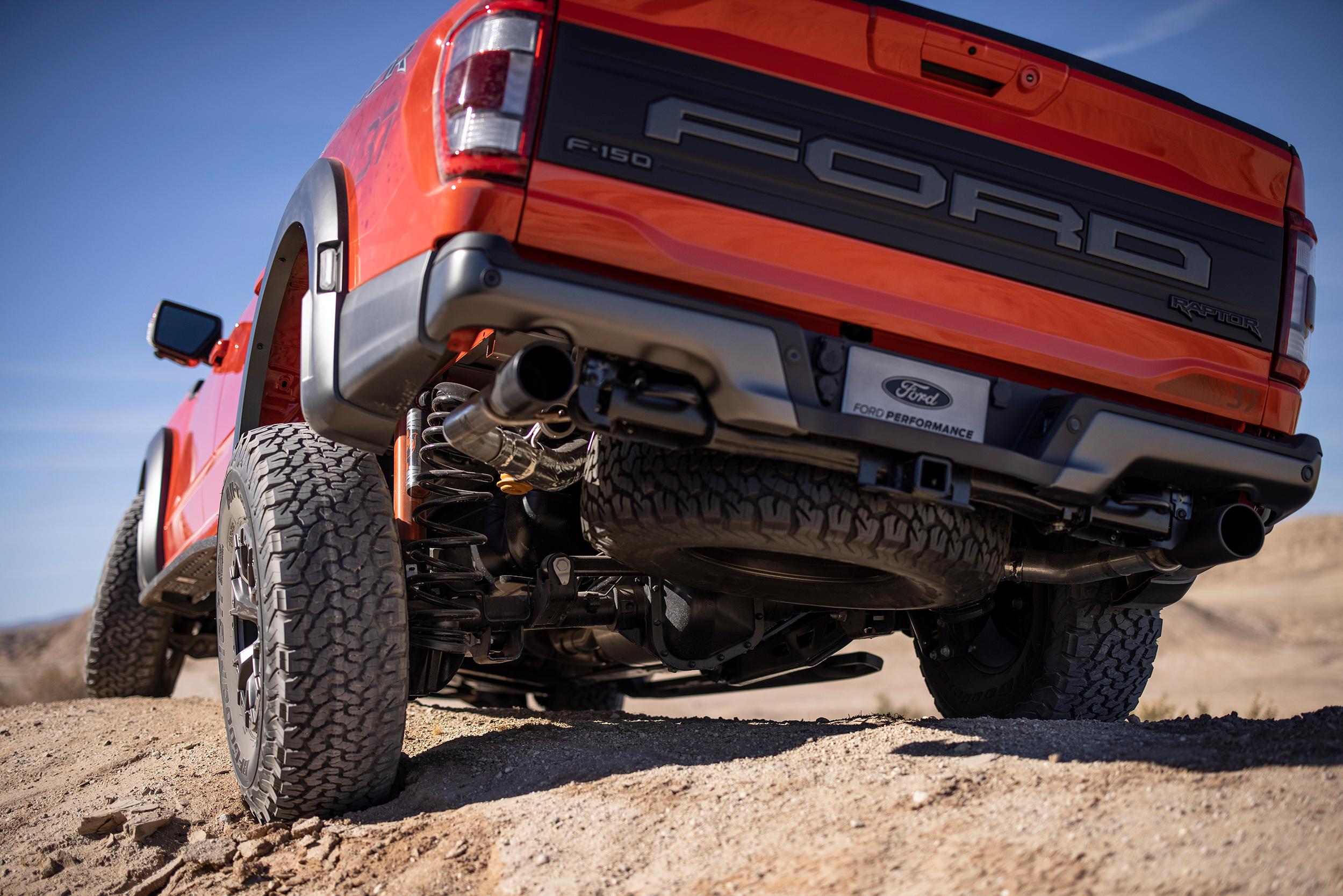 2021 Ford Raptor flex from rear