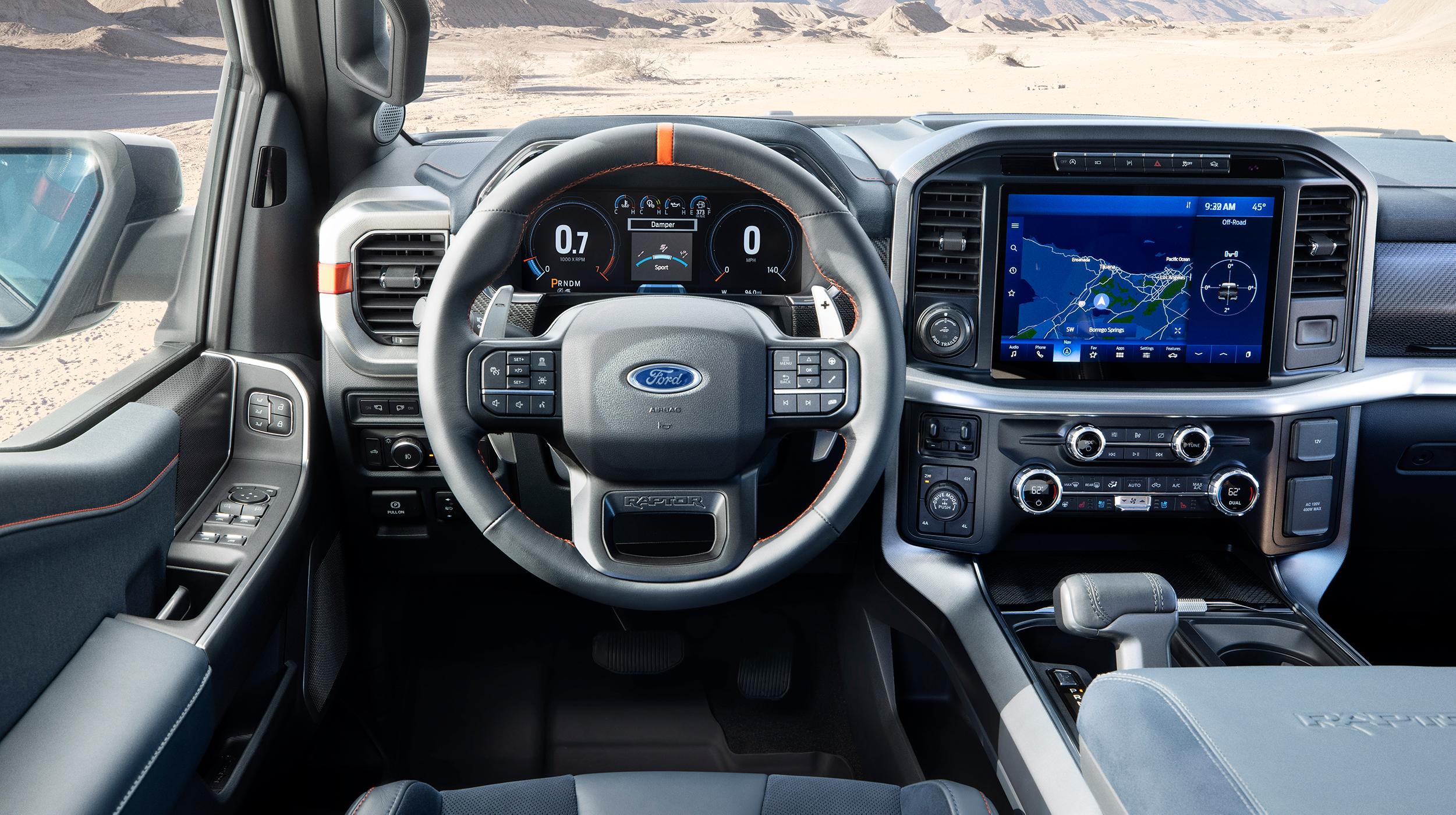 2021 Ford Raptor driver cockpit