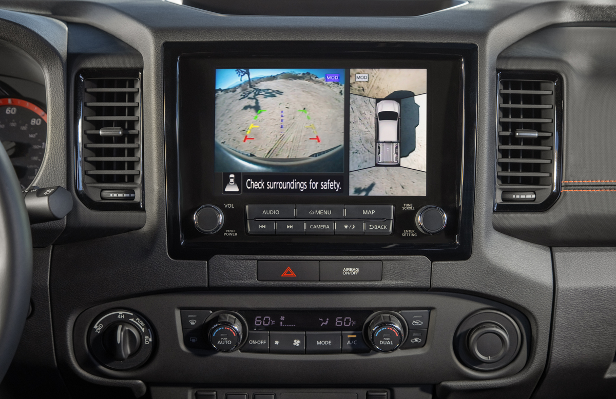 2022 Nissan Frontier surround view camera system