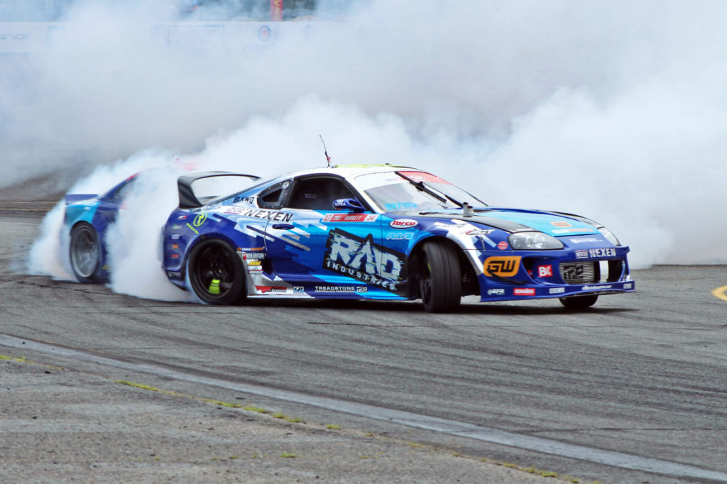 RAD Dan Burkett 2JZ powered Mk4 Toyota Supra drifting