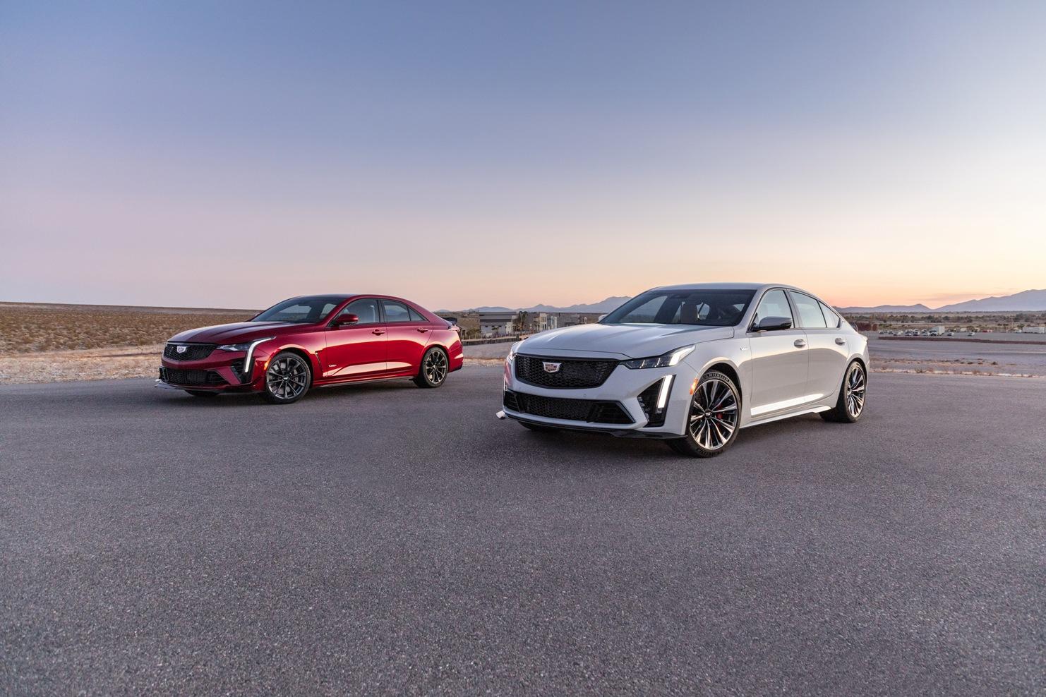2022 Cadillac CT4-V and CT5-V Blackwings