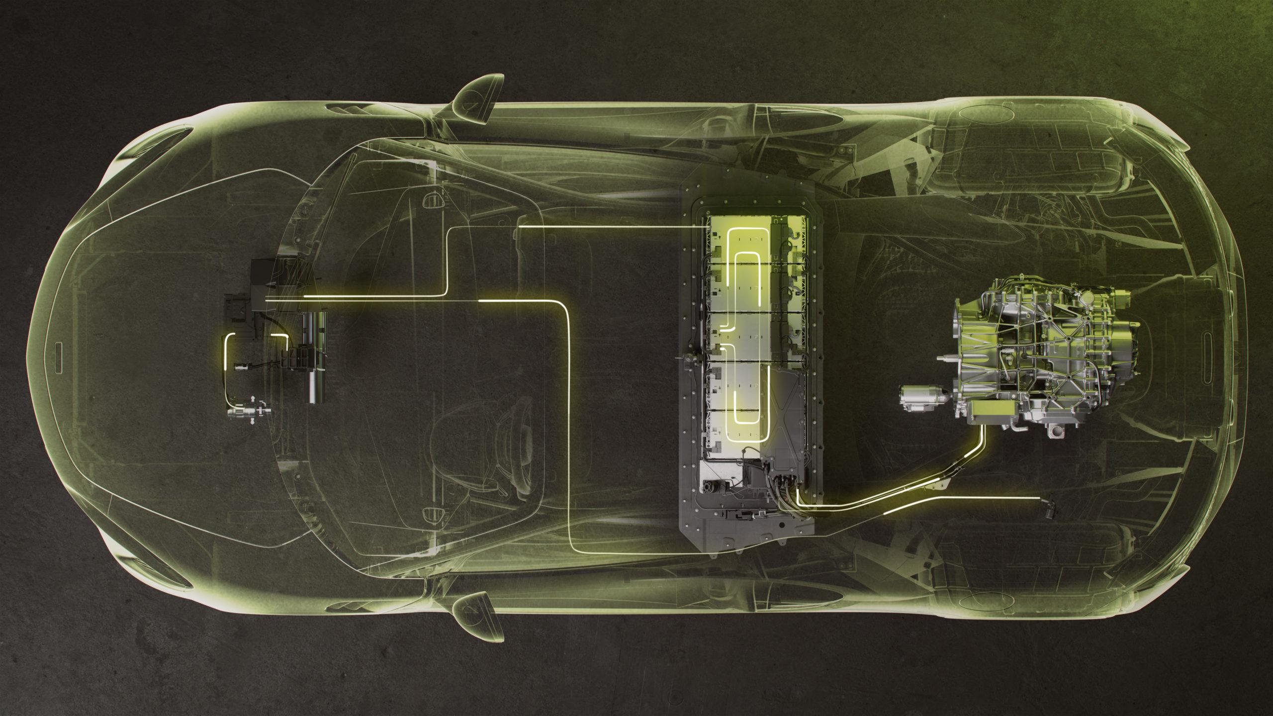 2022 McLaren Artura hybrid powertrain