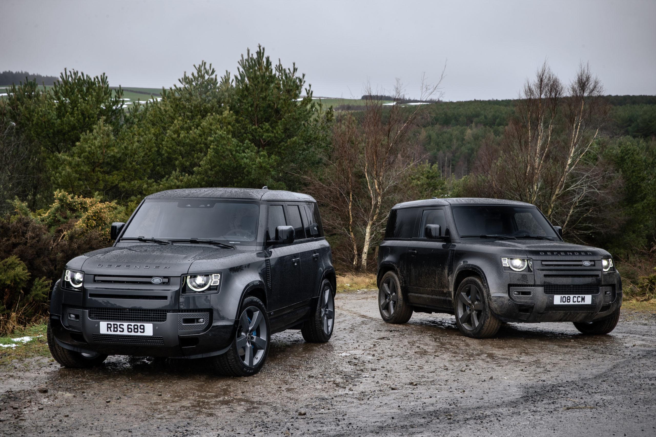 2022 Land Rover Defender 110 and 2022 Defender 90 V8