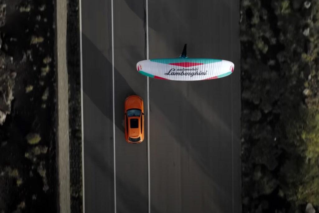 Lamborghini Urus Paraglider commercial