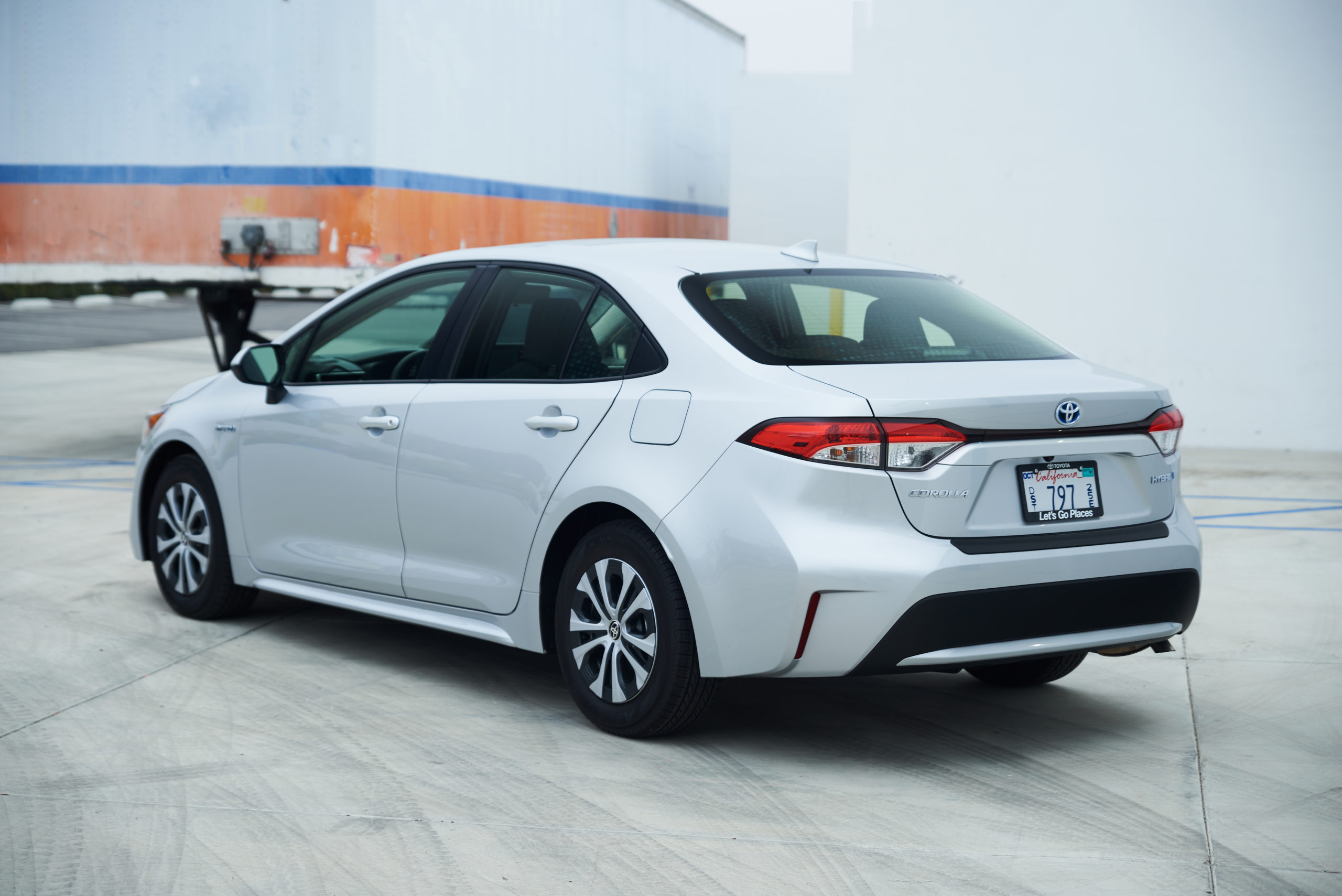 2021 Toyota Corolla Hybrid rear three quarter angle