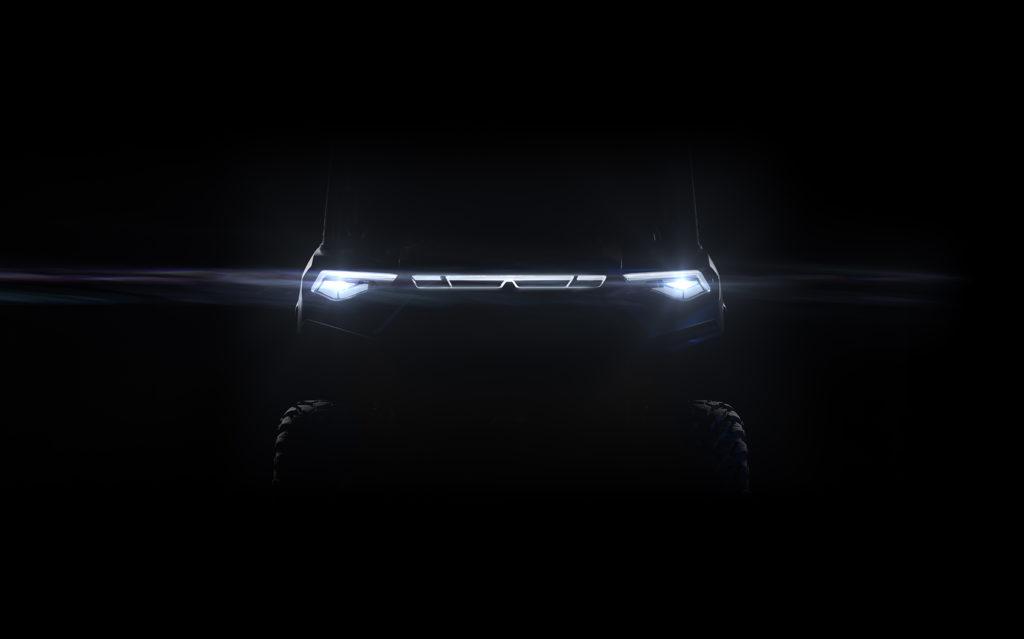 2022 Polaris Ranger Electric UTV headlights teaser