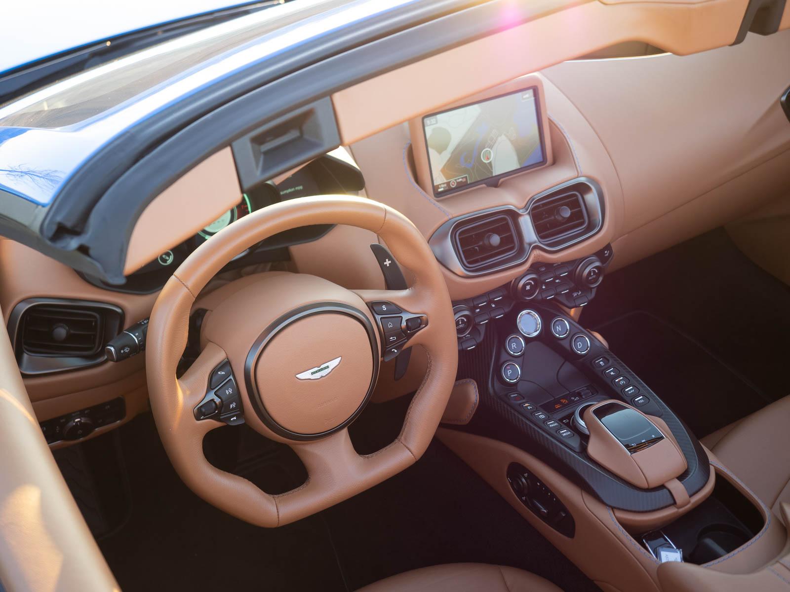 cockpit of 2021 Aston Martin Vantage