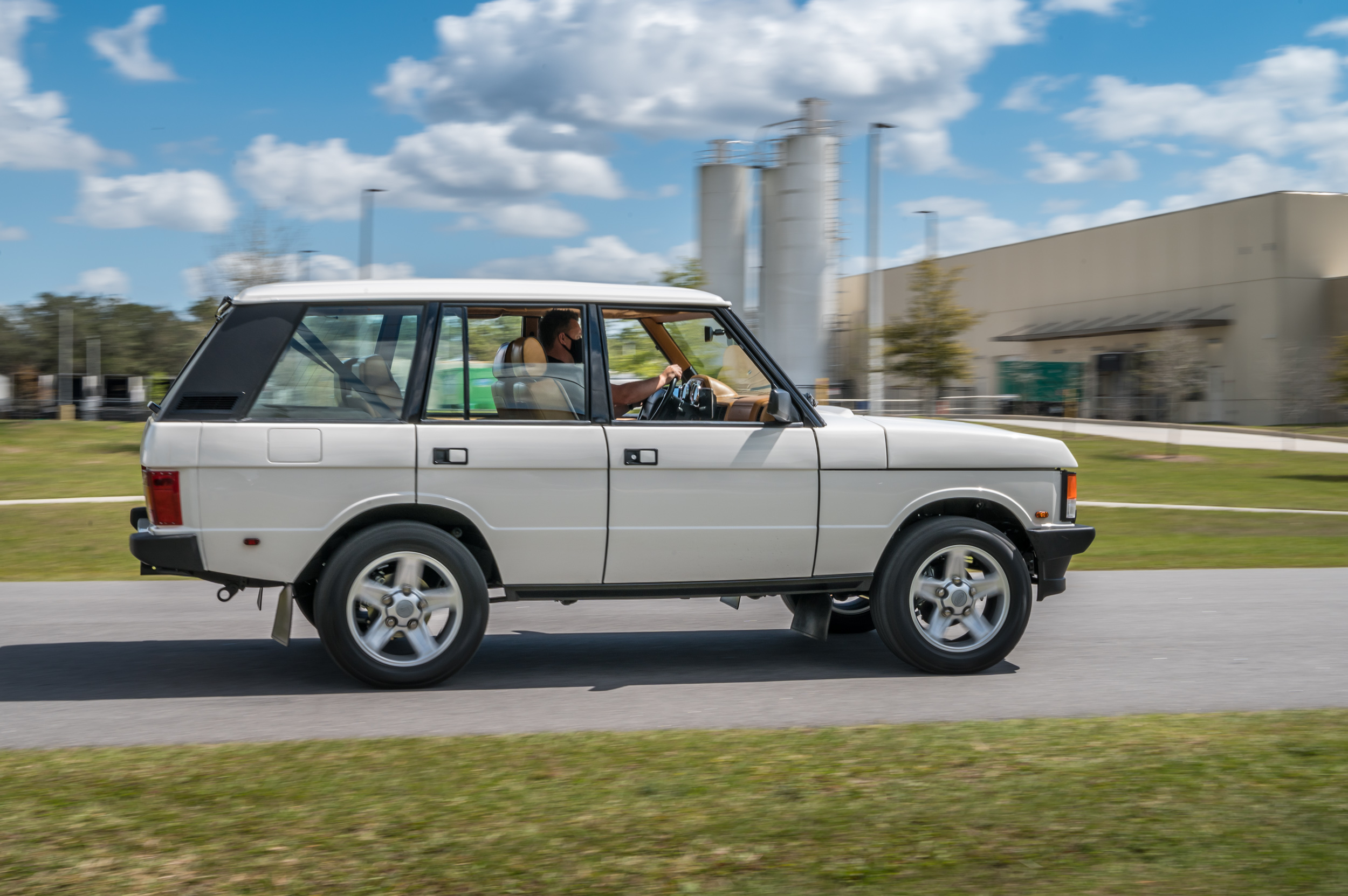 ECD electric Range Rover Classic powered by Tesla