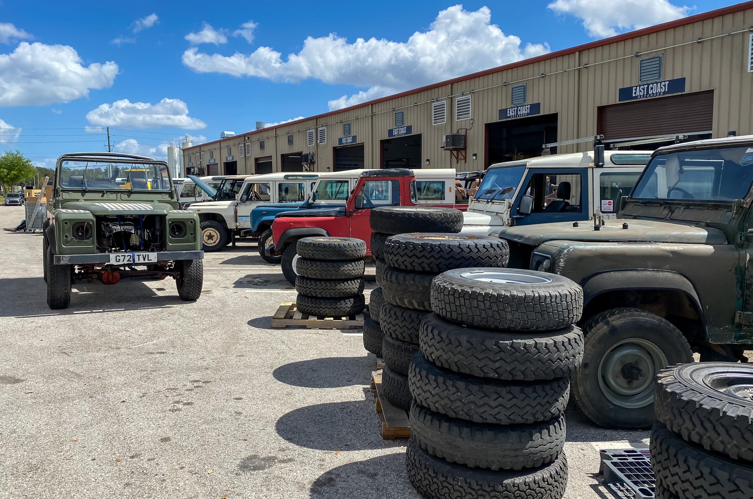 ECD truck boneyard