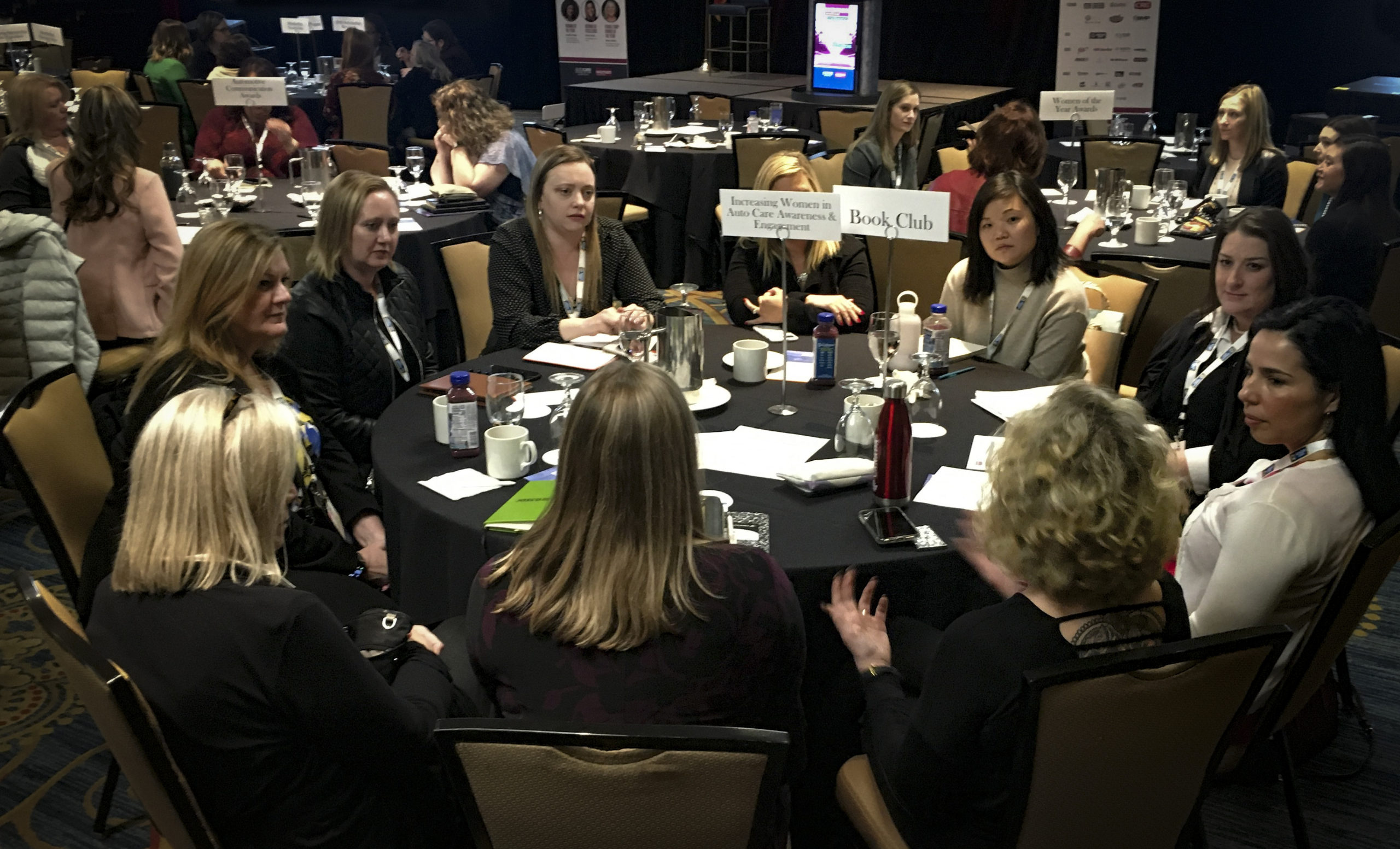 Women in Auto Care conference roundtable discussions
