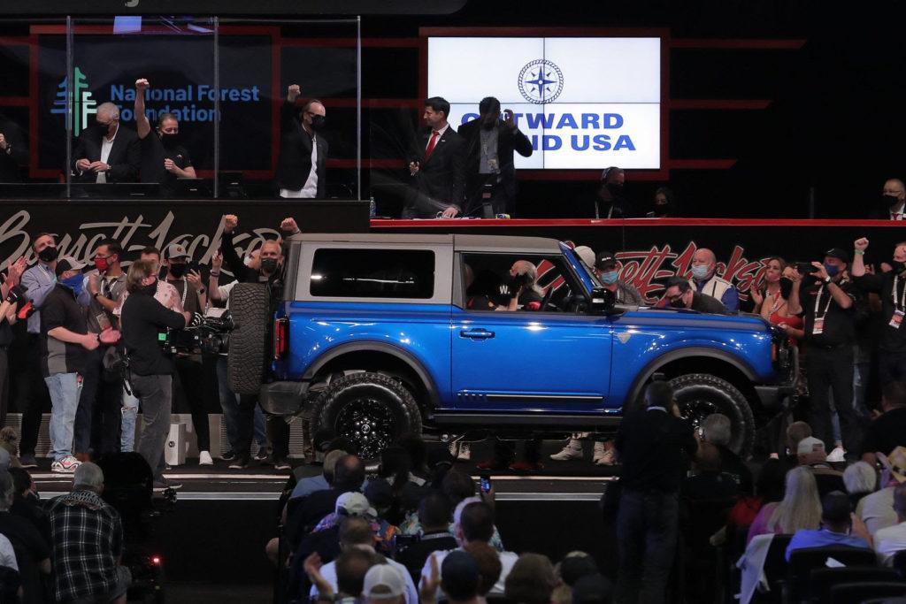 2021 Ford Bronco VIN 001 charity car Barrett-Jackson