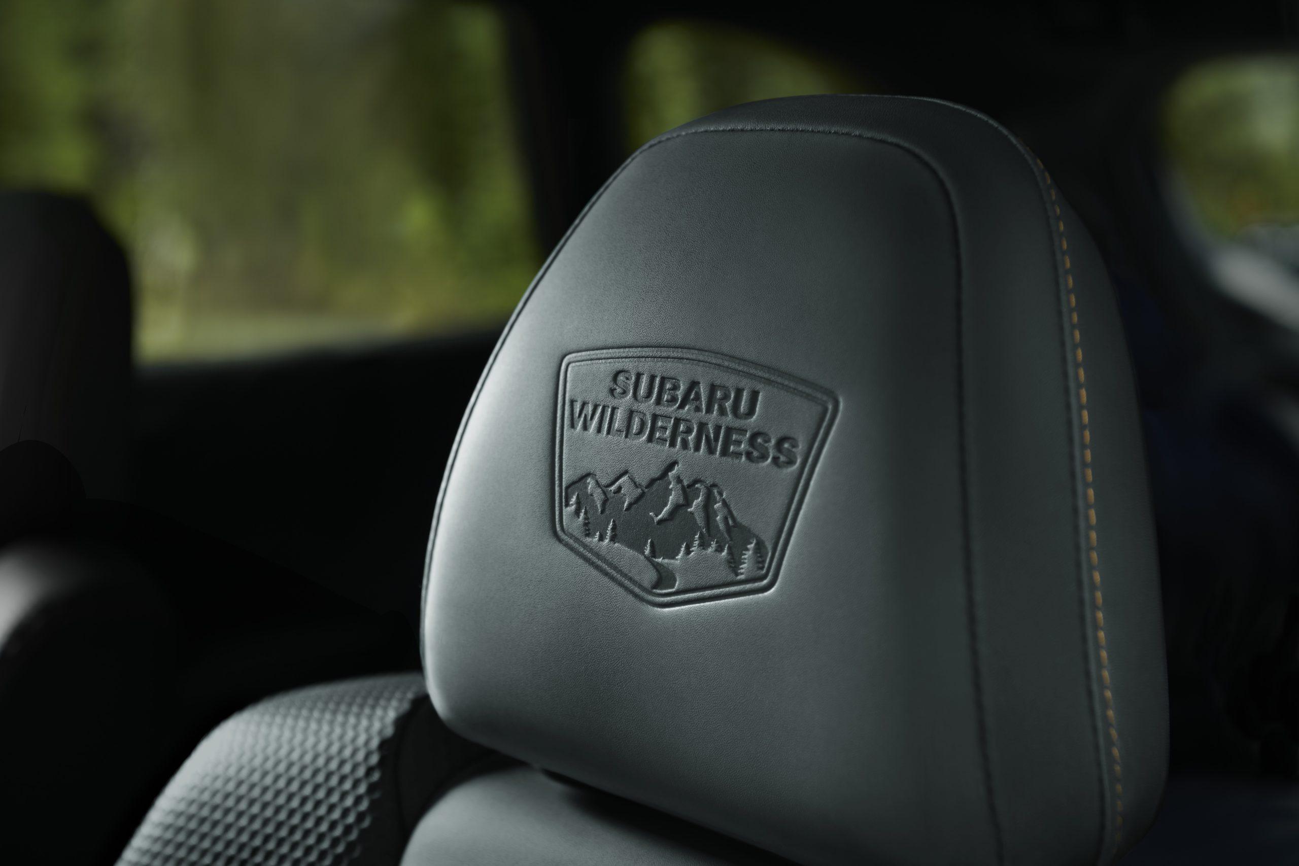 Subaru Wilderness embossed headrest