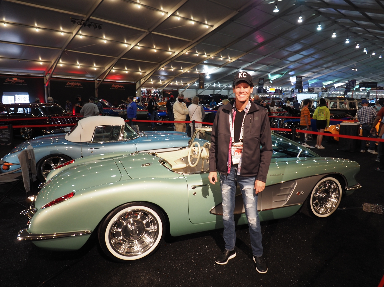 Joe Clevenger with his 2021 creation a restomod 1959 Corvette